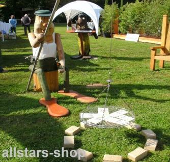Grillständer mit Figur - Schwenkermann - Garten-Grill Schwenkgrill Eiche und Robinie Variante 2 mit Lasur