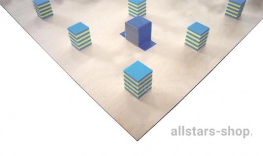 Bänfer Schwingboden Unterkonstruktionen für Bodenturnflächen, ohne Stahlfedern 14 x 14 m Quaderklötze