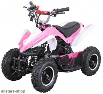 Actionbikes Kinderauto Poketquad Miniquad Racer 49 cc Motor-2-takt-Quad pink-weiß