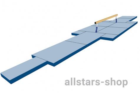 Bänfer Schwebebalken Mattensatz Nadelfilz blau 48m²