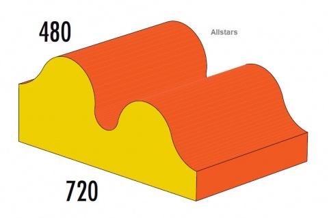 Bänfer Softbaustein Welle 720 x 480 mm Medi Schaumstoff-Bausteine Großbaustein