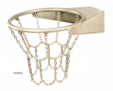 Beckmann Basketball Basketballkorb mit Netz Edelstahl Edelstahlring Edelstahlnetz
