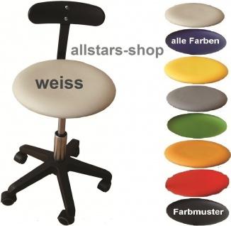 """Allstars Bürostuhl """"Octopus Beta"""" 36-43 cm Drehstuhl mit Rollen und PU-Beckenstütze weiß"""