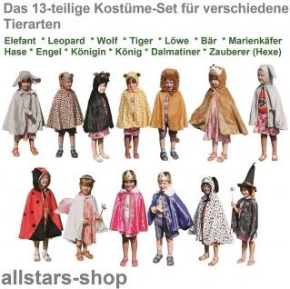 Kostüme-Set Kinder-Kostüm 10 Tierkostüme plus König Königin Engel Allstars - Vorschau 2
