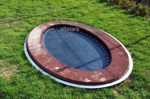 Hally-Gally Trampolin Saturnus oval Sprungmatte geschlossen Inground zum Einbauen