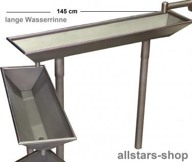 Wasserrinne 1 Stück für Wasserspielanlage Matschanlage Wasserspiele Länge 145 cm mit Füßen