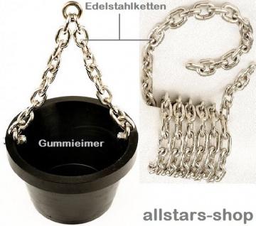 Beckmann Sandeimer mit Stahleinlage und 3 m Kette Edelstahl für Sandaufzug Spielplatz-Aufzug