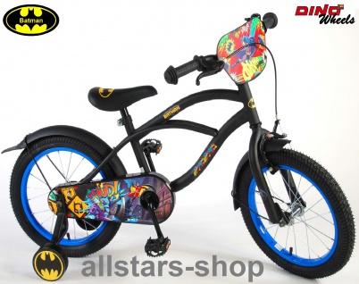 """Allstars Dino Wheels Bikes Jungenfahrrad 18 """" Batman Kinderfahrrad + Rücktrittbremse schwarz"""