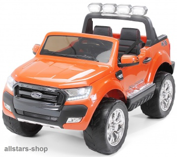 Actionbikes Kinderauto Ford Ranger Kinder-E-Auto 2-Sitzer 2 Kinder orange