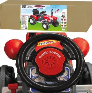 Jamara Kinder-Auto Ride On Traktor Trecker Elektro-Traktor rot mit Hänger grün - Vorschau 5