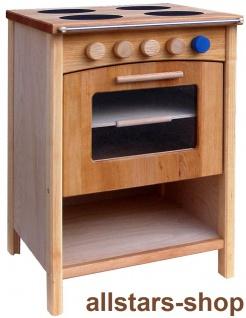 Schöllner Kinderküche Vario Single mit 2 Einheiten Herd Backofen Kühlschrank Spüle Spielküche Erlenholz Pantry - Vorschau 5