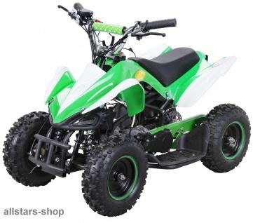 Actionbikes Poketquad Miniquad Racer 49 cc Motor-2-takt-Quad grün-weiß Miweba