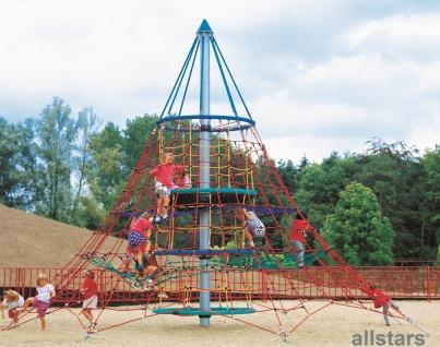 "Huck Seilnetz-Pyramide ""Dino 1"" Kletterpyramide Vogelnest Seilpyramide Kletterturm"
