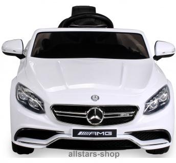 Actionbikes Kinderauto Elektro-Auto Mercedes AMG S63 Kinder-Elektroauto weiss Miweba