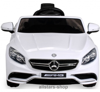 Actionbikes Kinderauto Elektro-Auto Mercedes AMG S63 Kinder-Elektroauto weiss