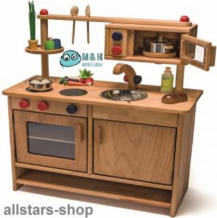 Allstars Spielküche Kinderküche Pantryküche aus Massivholz mit Spülbecken und Mikrowelle