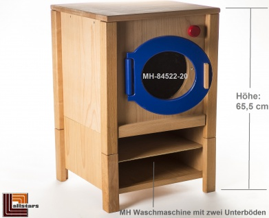 Allstars Kinderküche Waschmaschine H = 65, 5 cm Spielküche aus Buchenholz
