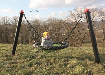 Huck Standpfosten für Baby-M-Schaukel Schaukelgestell Vogelnestschaukel Stahlpfosten Babyschaukel
