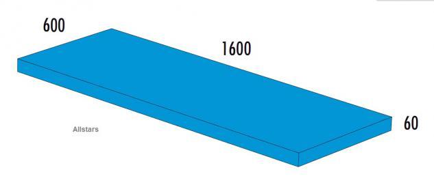Bänfer Softbaustein Turnmatte Hellblau 1600 x 600 x 60mm Maxi Schaumstoff-Baustein