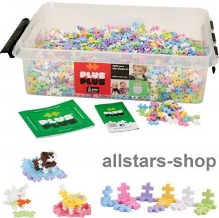 Allstars Plus-Plus Puzzle Bausteine Bauklötze Mini 3600 Pastell