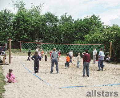 Huck Volleyballnetz Herkulesseil mit Stahlpfosten Volleyball Netz