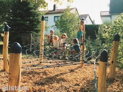 Huck Kletternetz Spinnennetz mit Pfosten Stahl