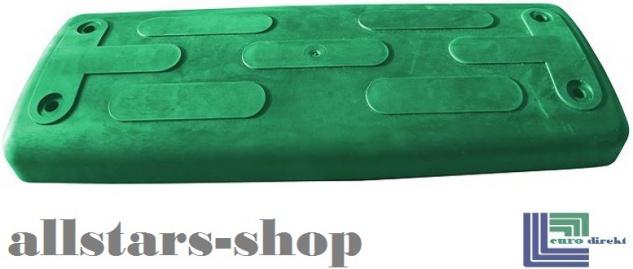 Beckmann Schaukelsitz Typ 1B Gummi Schaukel gebogen mit Alu-Verstärkung mit Edelstahl-Kette TÜV für öffentlichen Bereich grün - Vorschau 3