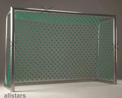 Huck Bolzplatz-Tornetz Mahulan Steel Maschenweite 10 cm für Fußballtor - Vorschau 1
