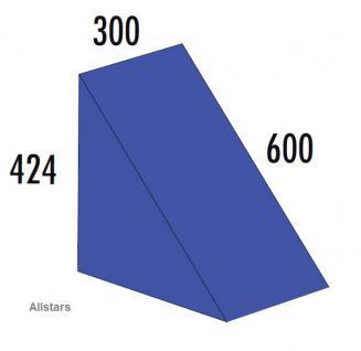 Bänfer Softbaustein Dreieck Blau 300 x 424 x 424 mm Maxi Schaumstoff-Baustein