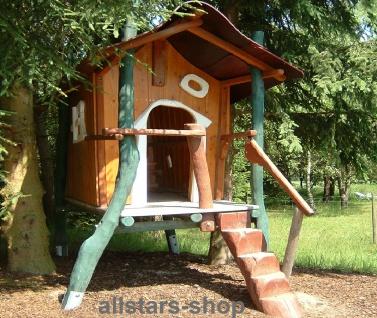 Spielhaus Stelzenhaus Kinderspielhaus Baumhaus rustikal Eiche und Robinie Villa Kunterbunt allstars