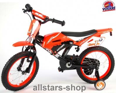 "Allstars Dino Wheels Bikes Kinderfahrrad 16 "" Motorradlook Rücktrittbremse +Handbremse Fahrrad orange"
