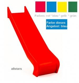 Beckmann Rutsche PE blau Anbaurutsche L = 1, 26 m PH 0, 9 m Flanschmontage