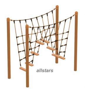 HUCK Vario-Element 12 Kletterbrücke für Robinie-Pfosten Kletternetz öffentlicher Spielplatz