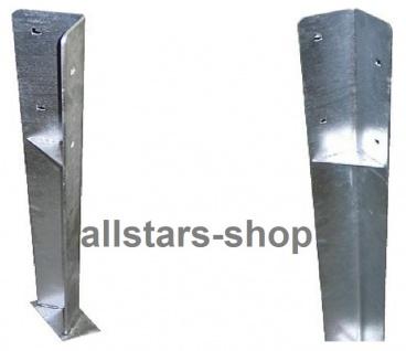 Pfostenschuhe für Kantholz-Pfosten L = 1.000 mm vz extrastabil Schenkellänge 95 mm 2 Stück Einschubtiefe 30 cm