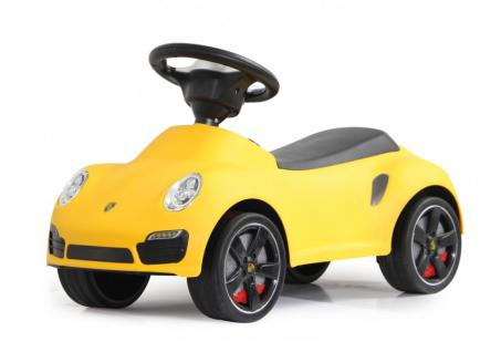 Jamara Rutscher Porsche 911 gelb Rutschauto Kippschutz