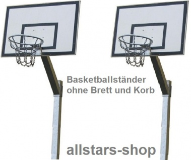 Beckmann Basketballanlage mit Ständer 3, 20 m verstellbar, Basketballkorb Netz Edelstahl mit rechteckigem Zielbrett 1, 20 x 0, 90 m