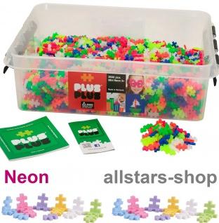 Allstars Plus-Plus Puzzle Bausteine Bauklötze Mini 3600 Neon
