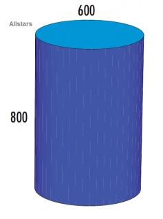 Bänfer Softbaustein Zylinder 800 x 600 mm Maxi Schaumstoff-Baustein Großbaustein