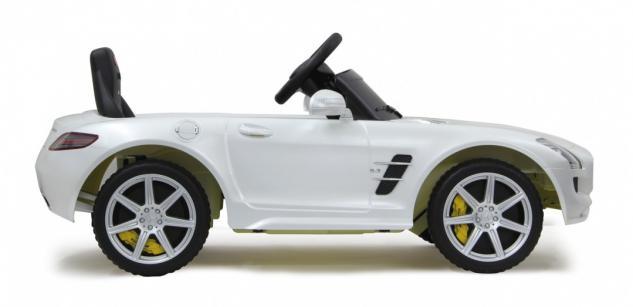 Jamara Ride on Car Mercedes SLS AMG weiß Kinderauto mit E-Motor zum Selbstfahren Elektroauto mit RC-Fernbedienung - Vorschau 2