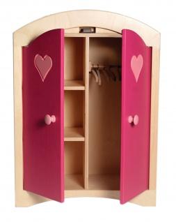 Allstars Kinder-Kleiderschrank Puppenschrank pink