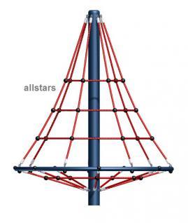 Beckmann Kletterpyramide 2, 80 m statisch Spielplatz Netzpyramide Seilpyramide