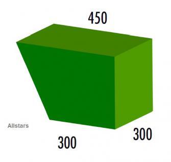 Bänfer Softbaustein 1/2 Trapezelement 45/30 x 30 x 30 Maxi Schaumstoff-Baustein