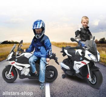 Jamara Kinder-Motorrad Ride On BMW S1000XR Motorbike mit E-Motor weiss