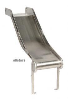 Beckmann Mini Metallrutsche Edelstahl 1, 40 Länge Anbaurutsche PH = 0, 60 m Rutsche