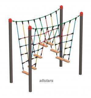 Huck Vario-Systen Element 12 Kletterbrücke Parcours f. Stahlpfosten Spielplatz