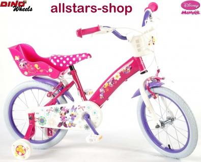 """Allstars Dino Wheels Bikes Disney Kinderfahrrad Mädchenfahrrad 16 """" mit 2 Bremsen pink"""