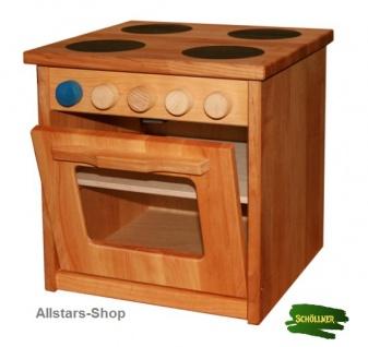 Schöllner Ofen Backofen für Kinderküche Spielküche Star Maxi aus Holz mit Herdplatten und Seitenteilen H = 50 cm - Vorschau 2