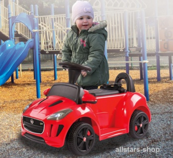 Jamara Kinder-Auto Ride On Car Kiddy Jaguar Kleinkind-Auto mit E-Motor rot
