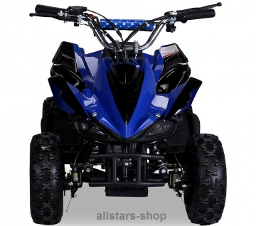 Actionbikes Poketquad Miniquad Racer 49 cc Motor-2-takt-Quad blau-schwarz Miweba