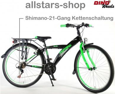 """Allstars Dino Wheels Bikes Thombike Kinderfahrrad Jungenfahrrad 26 """" mit 21-Gang-Ketten-Schaltung grün - Vorschau 2"""